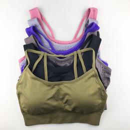 b3cacbd69 4 Styles Seamless Sports Bra Women Gym Back Cross Strappy Fitness Women  Sports Bras Gym Active Wear Yoga Bras For Running Tops