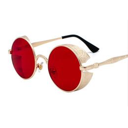 $enCountryForm.capitalKeyWord UK - Luxury-Vidano Optical vintage designer steampunk sunglasses for men and women gothic round fashion glasses unisex metal frame punk shades