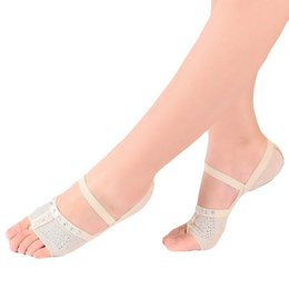 Women belly shoes online shopping - Protector Dance Shoes Accessories Heel Ballet Dance Socks Belly Women Dancing Foot Thong Toe Pad Half Shoes