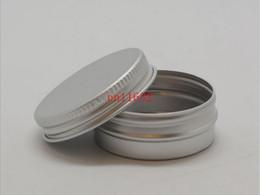 Aluminium Lip NZ - Free Shipping 15ml Aluminium Balm Tins pot Jar 15g comestic containers with screw thread Lip Balm Gloss Candle Packaging 500pcs