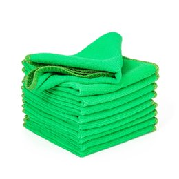 $enCountryForm.capitalKeyWord Australia - 10pc Microfiber Car Wash Towel Soft Cleaning Car Care Detailing Cloths Wash Towel Duster 9.84'' x 9.84''Inch Microfiber Towel Car