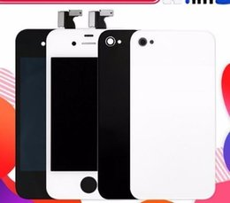 $enCountryForm.capitalKeyWord Australia - Dop-parts For iPhone 4 4S Screen Black White LCD Display Touch Screen With Digitizer Assembly Back Cover+Home Button+Tools