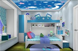 $enCountryForm.capitalKeyWord NZ - WDBH 3d ceiling murals wallpaper custom photo Cartoon starry moon children's room background home decor 3d wall murals for walls 3 d