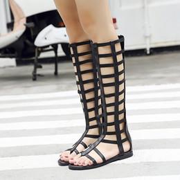 $enCountryForm.capitalKeyWord Australia - Pretty2019 Sexy Bottom Flat Toe Rome Woman Sandals Joker High Cool The Cylinder Boots