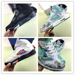 $enCountryForm.capitalKeyWord Canada - 2019 New Release 5 Wings 5s Men Basketball Shoes Mens 3M Graffiti Sports Trainers Women Sneakers AV2405-900 Designer Shoe