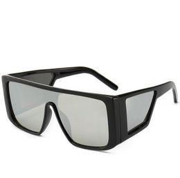 22a4d27ecbd5 High Quality Sunglasses Women Fashion one piece Vintage Oversized Square  leopard Sunglasses Eyewear 6 color LJJK1553