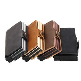 $enCountryForm.capitalKeyWord UK - Weduoduo 2019 Men And Women Business Holder Metal Double Aluminium Box with rfid blocking Travel Card Wallet Purse