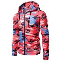 $enCountryForm.capitalKeyWord Australia - Camo Hoodie Sweatshirt Men Fashion Camouflage Printed Sweatershirts Overcoat Autumn Casual Zipper Hoodies Jacket Outwear