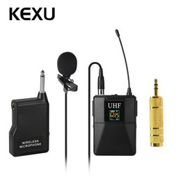 $enCountryForm.capitalKeyWord NZ - KEXU Professional UHF Wireless Microphone System Lavalier Lapel Mic Receiver + Transmitter for Camcorder Recorder Microphone
