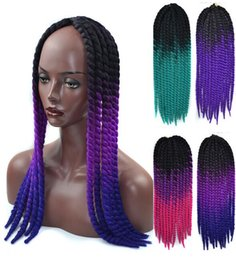 $enCountryForm.capitalKeyWord Australia - Havana mambo twist 22 inch dyed gradient twisted hair extension black scorpion spring colorful fashion support wholesale free shipping