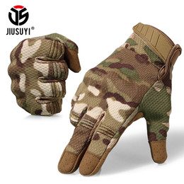 Paintball Tactical Gear Australia - Tactical Touchscreen Full Finger Gloves Military Paintball Shooting Airsoft Lightweight Breathable Protection Hard Knuckle Gear T190618
