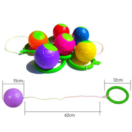Discount skipping toy - Children Jumping Ball Skipping Rope Swivel Foot Ball Toy Outdoor Garden Fitness Equipment Adjustable Length Jump Ring
