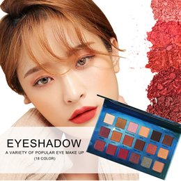 green eye shadow palette Australia - Hot! 18 Color In 1 Shimmer Matte Makeup Palette Eyeshadow Professional Brand Make Up Maquillage Eye Shadow Palette new