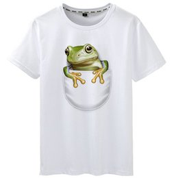 $enCountryForm.capitalKeyWord UK - Hide t shirt Pocket frog style short sleeve tees Nice design gown tops Fadeless print clothing Pure color colorfast modal tshirt