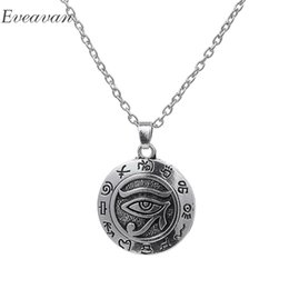 Discount pharaoh pendants - EUEAVAN 20pcs Vintage Eye of Horus Pendant Necklace Egyptian Pharaoh Guardian God Wedjat Eye Jewelry For Healthy and Rec