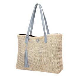 $enCountryForm.capitalKeyWord Australia - Women's Woven Handbags Fashionable Beach Straw Bag Natural Simple Single Shoulder Large Bag For Outdoor Brand New Y190626