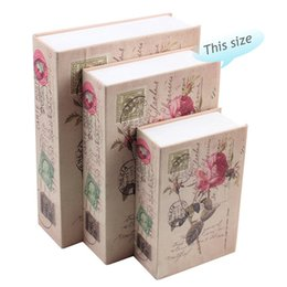 Book safes online shopping - Password Vehicle Storage Bins Steel Plate Rose Safe Simulation Book Safety Box Christmas Gifts Secret Cash Boxes sk3 A1