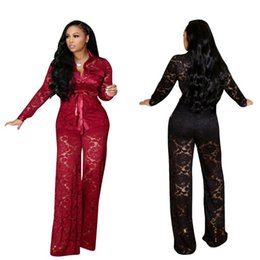 Two piece sexy rompers online shopping - European Style Women Jumpsuit Sexy Lace Rompers Women Jumpsuit Two Pieces Sexy Club Overalls