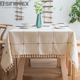 $enCountryForm.capitalKeyWord Australia - Dot Plaid Decorative Table Cloth Tassels Dinner Table Cover Party Wedding Home Kitchen Rectangular Tablecloth 1pcs lot T8190620