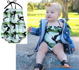 $enCountryForm.capitalKeyWord Australia - 2019 summer baby girl one piece swimsuits camouflage halter kids swimwear toddler girls beach wear rompers backless swimming bathing suits