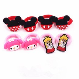 hair cabello Australia - 8PCS lot Mouse Girls Cartoon Heawear Hair rubber bands Kids accesorios para el cabello children birthday gift