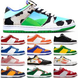 panda fabrics Canada - Top quality Dunk Low men women running shoes Chunky Dunky Brazil Panda Pigeon Kentucky Syracuse Safari mens sports sneakers Size 36-45