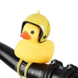 Chinese  Bike Horn Cute Bell Squeeze Horns For Toddler Children Adults Cycling Light Rubber Duck Helmet Toys 2019 New manufacturers