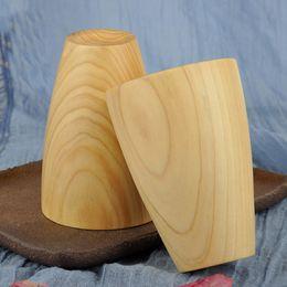 $enCountryForm.capitalKeyWord Australia - 10pcs Wooden Cup Log Color Handmade Natural Wood Coffee Tea Beer Juice Milk Mug Dropshipping