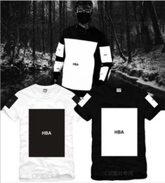 Hood Air Black Tee NZ - Free shipping Chinese Size S--3XL 2014 summer t shirt Hood By Air HBA X Been Trill Kanye blank print Hba tee men tshirts 5 color 100% cotton