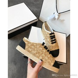 fold up flats UK - 2019 new top version Arena Kanye West Man casual shoes flat arena folds leather low cut lace women's fashion shoes heng190419