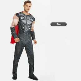super suits NZ - Mens Halloween Suit 2019 New Arrived Designer Mens Suits Luxury Super Hero Costume for Men Free Size Cosplay Muscle Clothing Wholesale