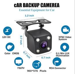 $enCountryForm.capitalKeyWord Australia - OEM factory direct sales wholesale HD rearview camera with 4LED light CMOS LED lights IP68 Waterproof 170 HD night vision car camera
