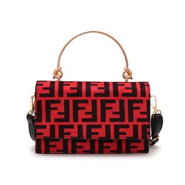 68f9d2ae3b Women F Letters PU Handbag Fashion Protable One Shoulder Bag Trendy Messenger  Bag Lady Zipper Tote Wallet Purse Travel Storage Bags New C483