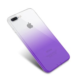 Navy Blue Iphone Cases UK - Colourful mobile phone shell For iPhone X XS MAX XR 7 8 Clear TPU Case Shock Absorption Soft Transparent Back Cover Free shipping