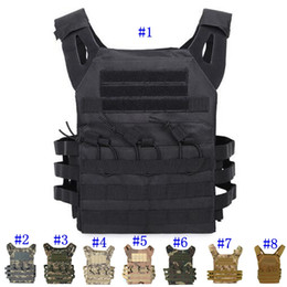 TacTical gear vesTs online shopping - Tactical Vest Quick Combat Hunting Vest Molle Chest Rig Protective Plate Carrier climbing adjustable Combat Gear Vests MMA2459