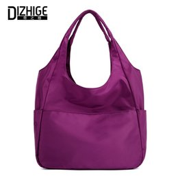 2cb6d06d33c4 DIZHIGE Brand Fashion Waterproof Shoulder Bag Women Large Capacity Luxury  Handbag For Women Solid Oxford Shoulder Bags Tote New