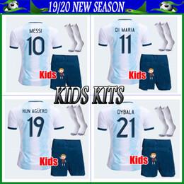 $enCountryForm.capitalKeyWord Australia - 2019 Argentina #10 MESSI home Soccer Jerseys 19 20 kids kits #9 KUN AGUERO #22 LAUTARO customized Football Uniforms+pants+socks
