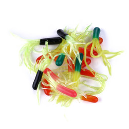 soft lure tackle NZ - HENGJIA 50g Lot Easy Shiner Soft Lures Tubular hollow tube worm Silicone Bait Carp Artificial Fishing Tackle Fishing Lures