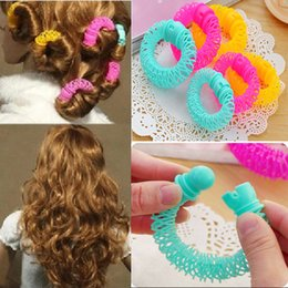 Rollers For Hair Australia - 8pcs Girls Curler Hair Curlers Elastic Ring Bendy Curler Spiral Curls DIY Tool Hair Accessories for Women Styling Roller
