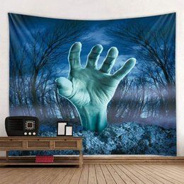 Bedroom wall tapestry online shopping - 230x150 Halloween series decorative background cloth wall hanging cloth Halloween style tapestry room girl bedroom decoration cloth bedroom