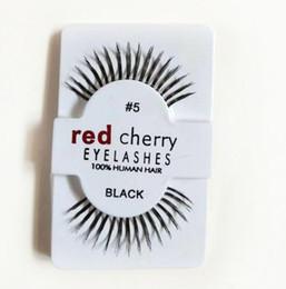 e5648df8ca8 Hot Sale 50 Pairs RED CHERRY False Eyelashes 100% Handmade Hair Strip Lash  Fake Eye Lashes CZ238