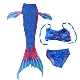 fancy crystal buttons NZ - 2019 Kids Children Mermaid Tails for Swimming Mermaid tail Girls Cosplay Fancy Costume New Bikini Set Suit Bathing Swimsuit