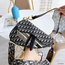 Cheap high quality handbags online shopping - cheap marketing latest popular Hot designer luxury handbags Women s Shoulder Bags high quality Ladies Di or Saddle bag Color mixing