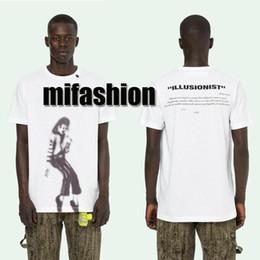 455ecea0f 19ss Luxury American High Quality Michael Jackson Graffiti Illusionist  Skateboard T-shirt Fashion Mens Designer Women T Shirt Casual Tee