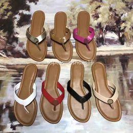 $enCountryForm.capitalKeyWord Australia - Top Brand Genuine Leather Flip Flops Casual Flats women designer shoes ladies flat Slippers Outside Summer Shoes Woman plata-forme Slides