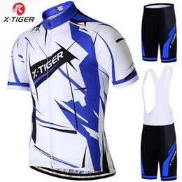 men jersey sets Australia - X-Tiger Summer Pro Cycling Jersey Set Racing Bicycle Clothing Man Maillot Ropa Ciclismo MTB Bike Clothing Sportswear Cycling Set