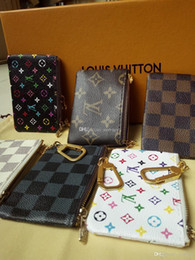 Wholesale KEY POUCH Damier canvas holds high quality famous classical design women key holder coin purse small leather goods bag