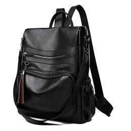 $enCountryForm.capitalKeyWord UK - Soft Leather Travel Women Backpack Female Tassel Shcool Bag Ladies Casual Daypack for Girls Rucksack Feminine Mochila