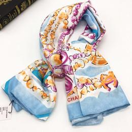 $enCountryForm.capitalKeyWord Australia - Brand design women's square scarf 100% twill silk material Beautiful fashion print lettes Embellished size 130cm - 130cm.