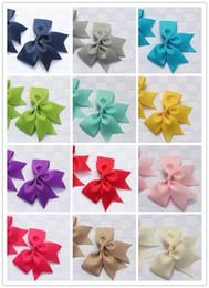 $enCountryForm.capitalKeyWord Australia - 14pairs 28pcs boutique cheer bow hair clip Grosgrain ribbon hairpins baby barrettes hair accessories headwear cheerleading ponytail
